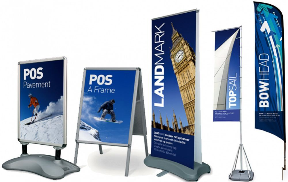 roll-up banners, retractable banners