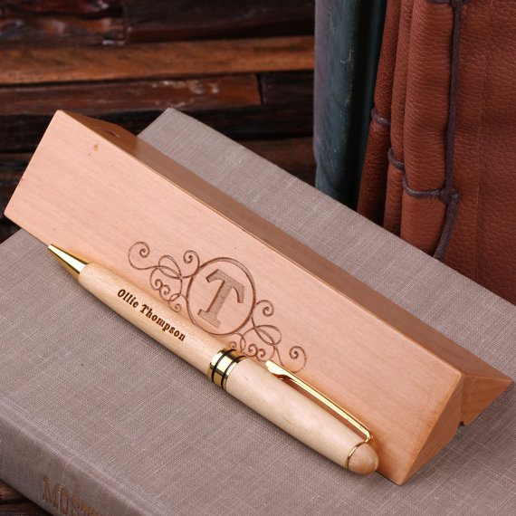 branded wooden Pen