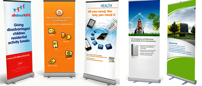 All types of display banner