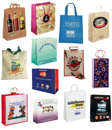 branded carrier shopping bags