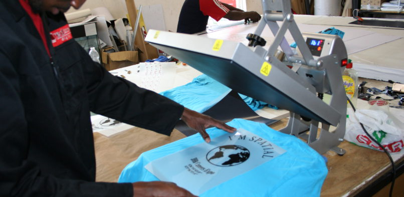 Custom branded T-shirt printing